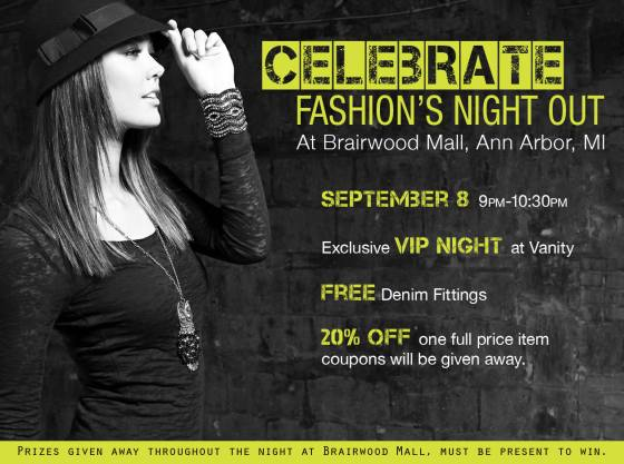 Celebrate Fashion's Night Out in Ann Arbor, MI